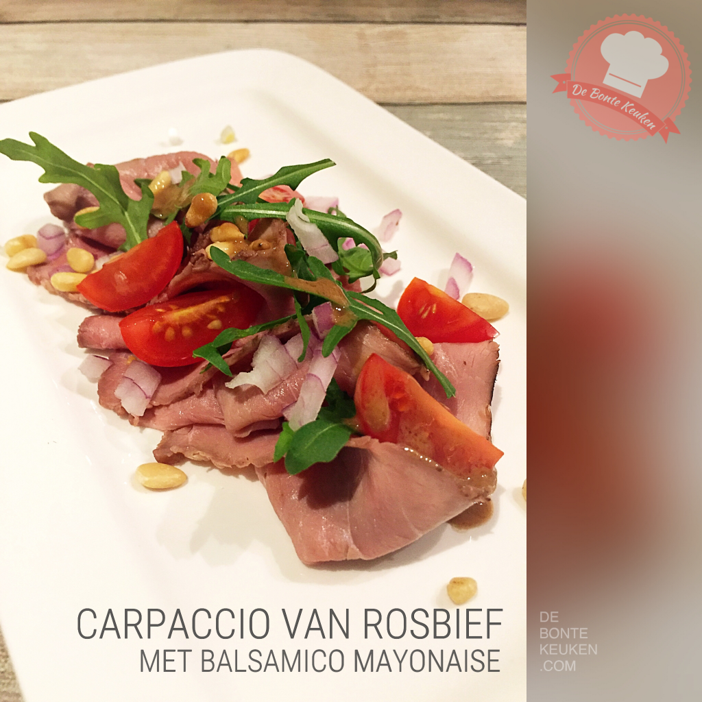 Carpaccio rosbief